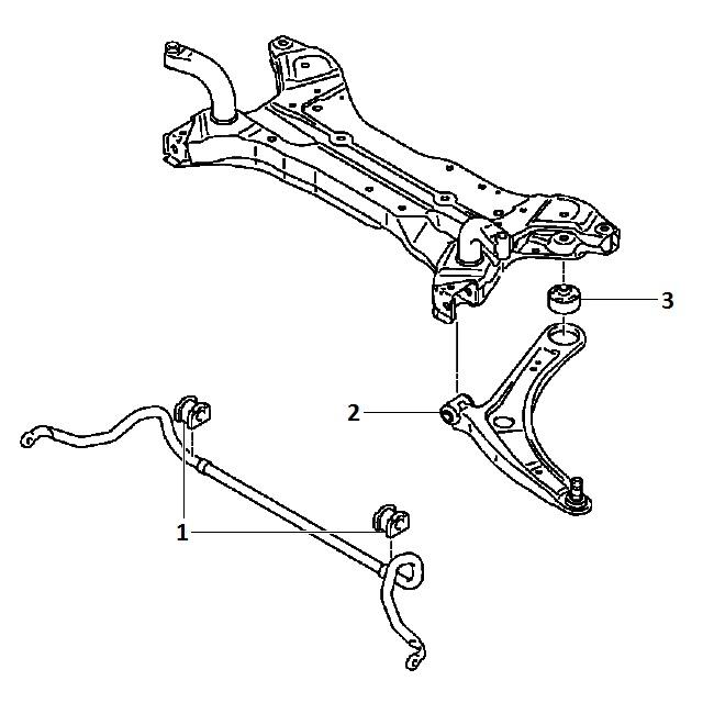 Genuine Chrysler 4162A207 Suspension Shock Absorber